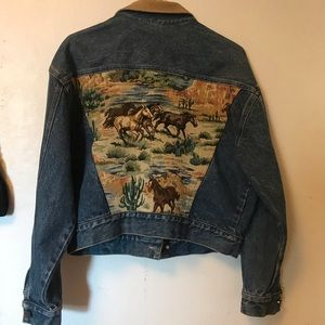 Guess Vintage Horse Embroidered Jacket M